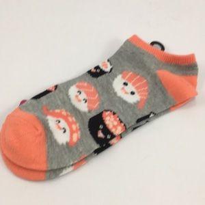 Accessories - Stocking Stuffer! NWT sushi no show socks